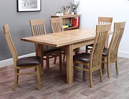 Terrific Harts Oak Extendable Twin Leaf Dining Table And 6 Chairs Oak Kensington Squirreltailoven Fun Painted Chair Ideas Images Squirreltailovenorg