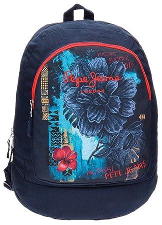 Pepe Jeans 6422351 Mangrove Mochila Escolar, 21.29 litros, Color Azul: Amazon.es: Equipaje