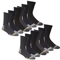 WORK SOCKS Men's Size 12-14 Thick Socks (12 Pair Multipack) Heavy Duty Reinforced Heel For Steel Toe Boots