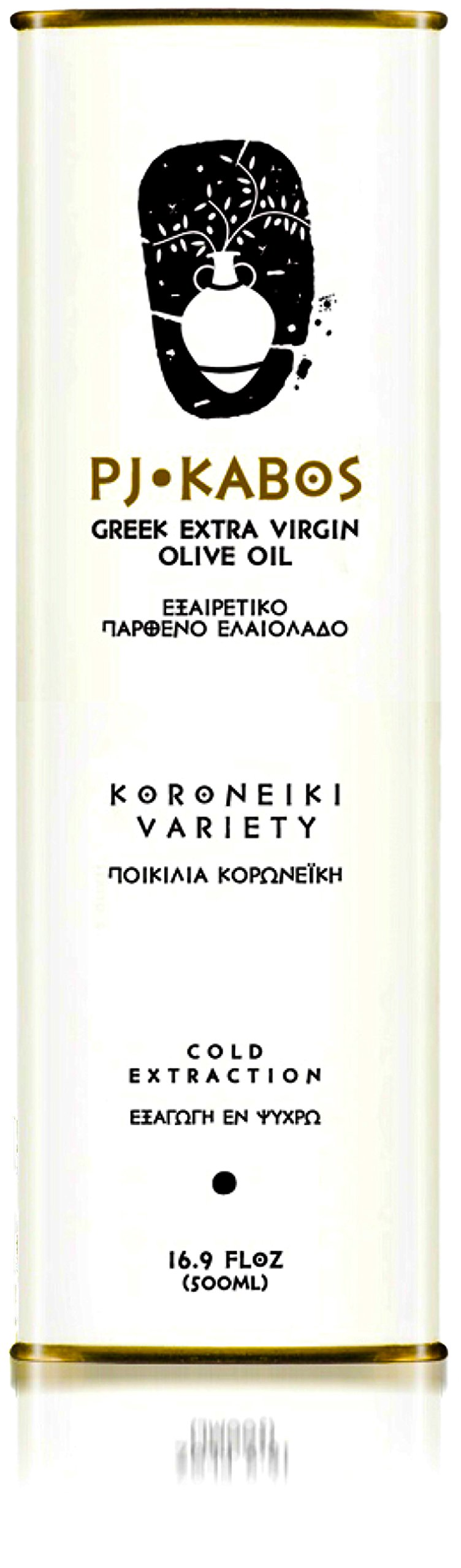 FRESH 2018/19 Harvest PJ KABOS 16.9Floz Greek Extra Virgin Olive Oil | 100% FRESH olive oil born in Ancient Olympia vicinity | From Greece | KORONEIKI Variety |