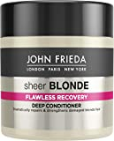 John Frieda Sheer Blonde Flawless Recovery Deep Conditioner Treatment for Dry and Damaged Blonde Hair, 150 ml