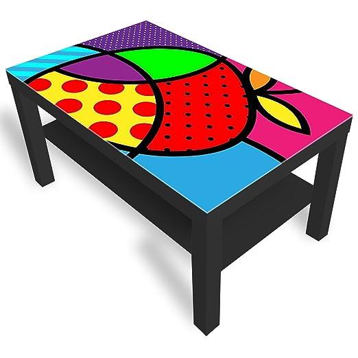 Dimensioni Tavolino Lack Ikea.Dekoglas Ikea Lack Tavolino Da Salotto Con Piano In Vetro