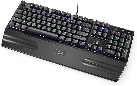 REDRAGON K560 HARA RAINBOW K560R-BK QWERTY - Retroiluminación para teclado (108 botones)