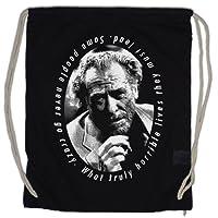 Urban Backwoods Charles Bukowski Portrait Sacs à Cordon Quote Zitat Barfly Poetry Drinker Säufer USA