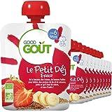 Good Goût Le Petit Déj Fraise Bio Dès 6 Mois 70 g - Pack de 10