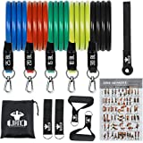 JIANC Resistance Bands Set, Exercise Bands with Door Anchor, Handles, Waterproof Carry Bag, Legs Ankle Straps for Resistance Training, Physical Therapy, Home Workouts