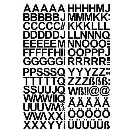 Leicht Anzubringende Buchstaben Aufkleber 4cm In Schwarz Glänzend 150 Hochwertige Klebebuchstaben Buchstaben Zum Aufkleben Abc Alphabet Wasser