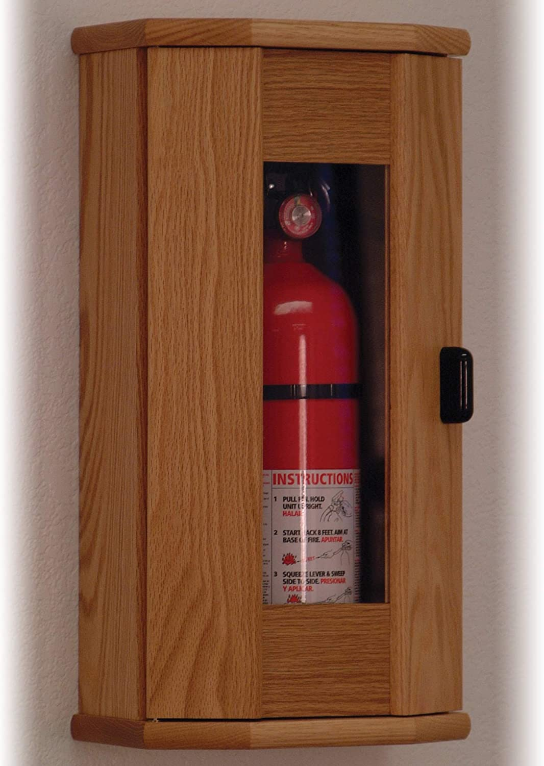 Image result for extinguisher cabinet in a kitchen