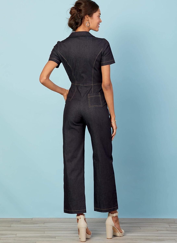 McCalls M7908 E5 Patrones de costura para monos de mujer tallas 36 a 50
