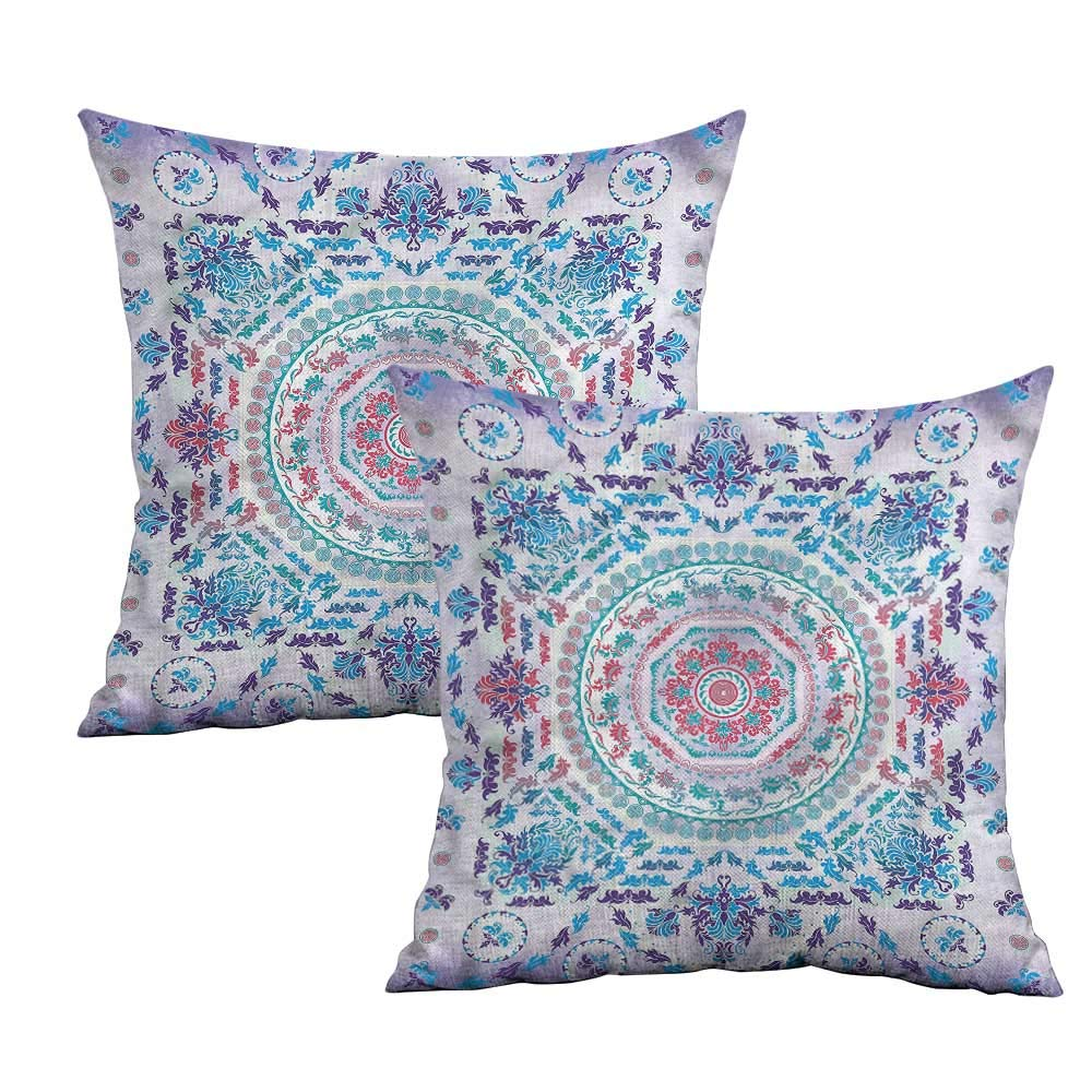 Amazon.com: Khaki Home Mandala Funda de almohada cuadrada ...