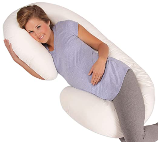 Leachco Snoogle Original Maternity/Pregnancy Total Body Pillow, Ivory