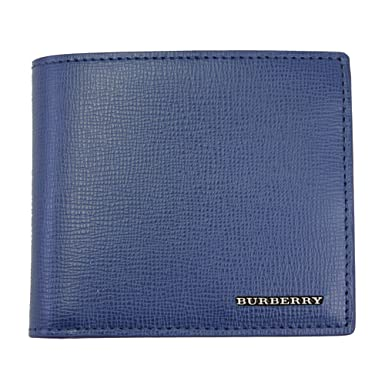 c9c0a720f46dc Image Unavailable. Image not available for. Colour  Burberry Men s Blue  Leather W Metal Logos Bi-fold wallet 4065540