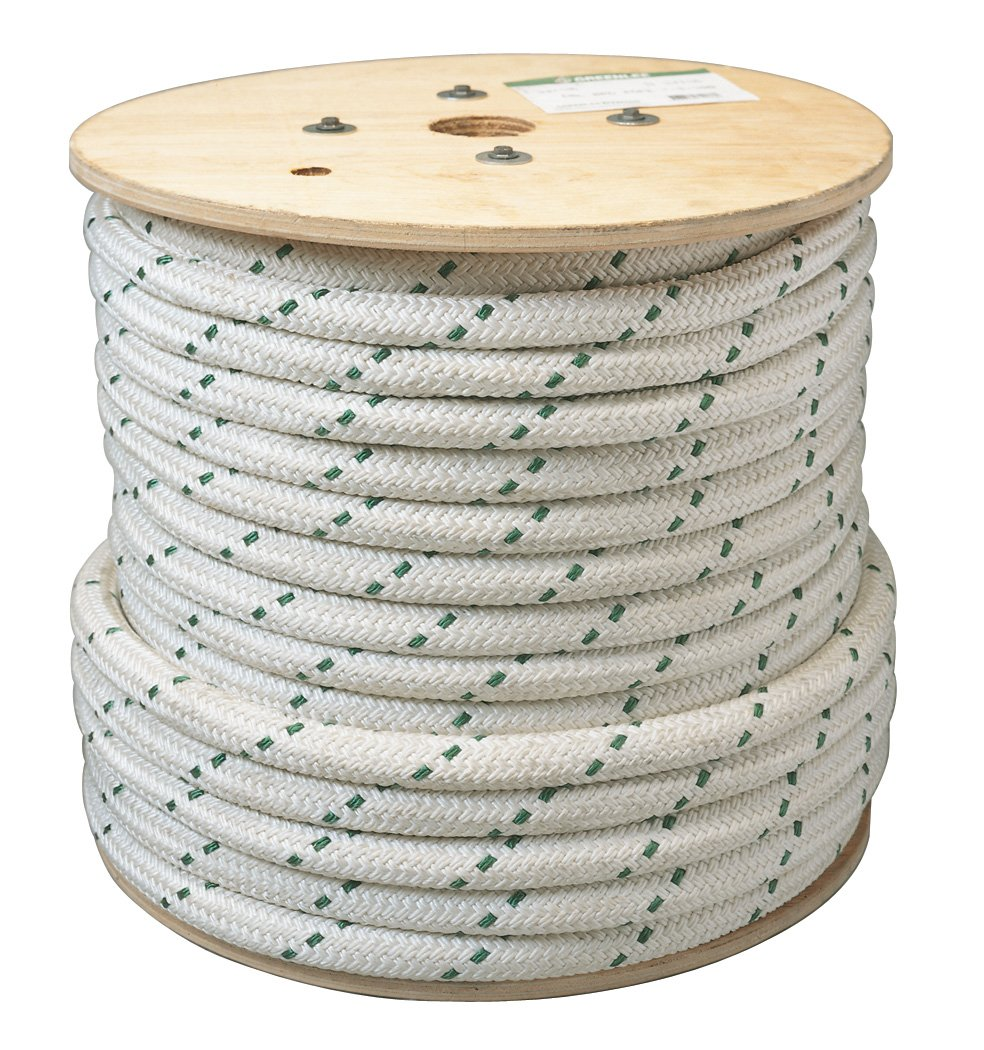 Greenlee 35098 Double-Braided Composite Rope for Cable Pullers, 3/4-Inch by 300-Foot