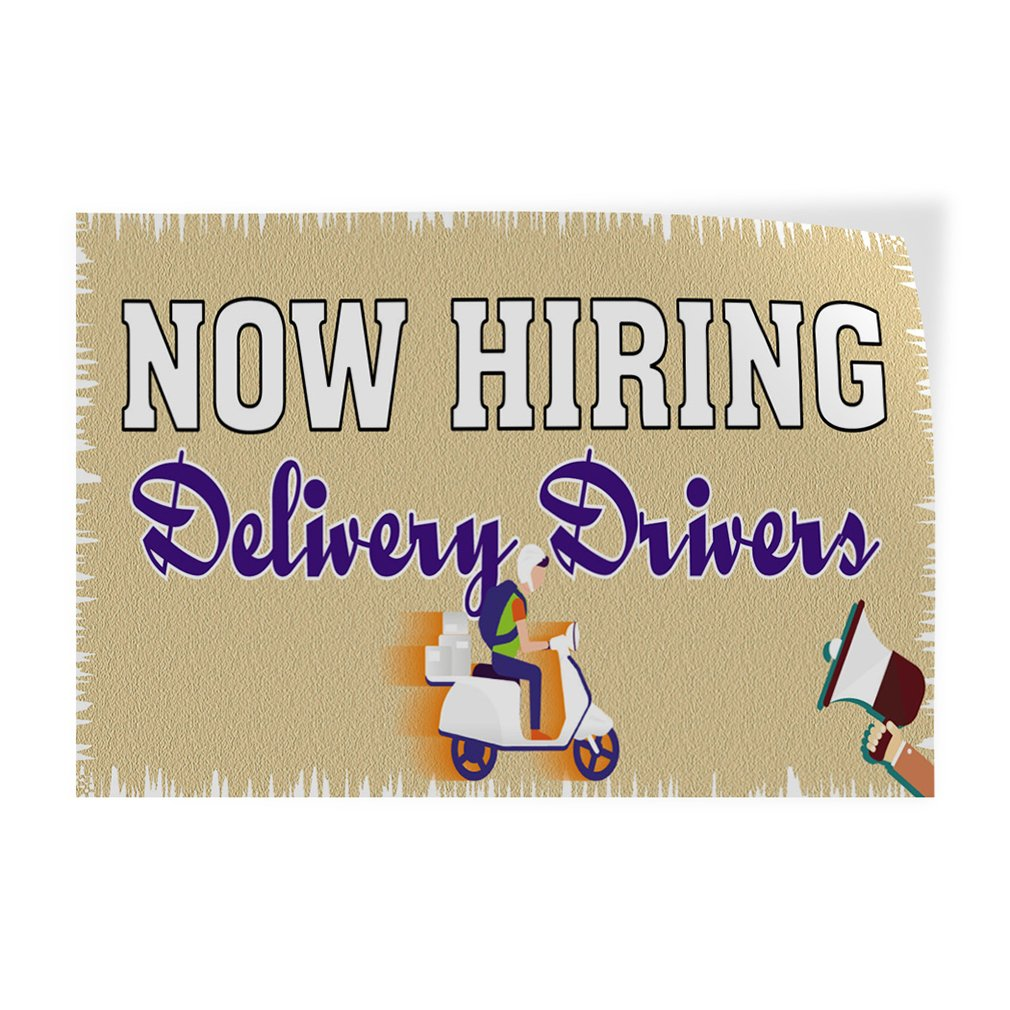 Decal Sticker Multiple Sizes Now Hiring Delivery Drivers Business Now Hiring Delivery Drivers Outdoor Store Sign White 64inx42in Set of 2
