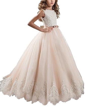 Amazon.com: Fanyudress Princess Long Girls Pageant Dresses Kids Prom ...