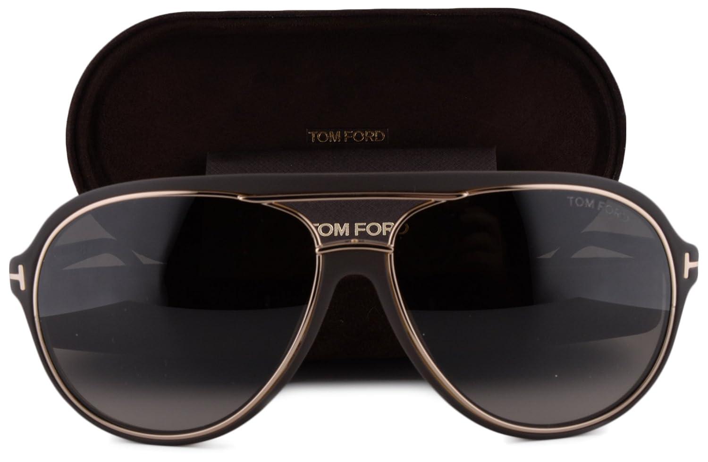 cbd5d8c97c99 Tom Ford FT0379 Sergio Sunglasses Dark Brown w/Brown Gradient Lens 50K TF  379 For Men: Amazon.co.uk: Clothing