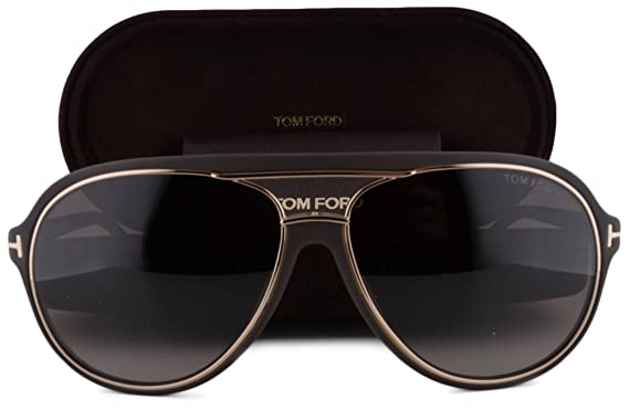 61151aefc Amazon.com: Tom Ford FT0379 Sergio Sunglasses Dark Brown w/Brown Gradient  Lens 50K TF 379 For Men: Clothing