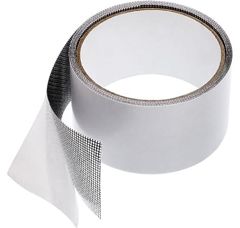 evita insectos Cinta de reparaci/ón de pantalla Dough.Q agujeros para parche cinta adhesiva de fibra de vidrio Windows y cinta adhesiva impermeable para reparaci/ón juego de reparaci/ón de mosquitera
