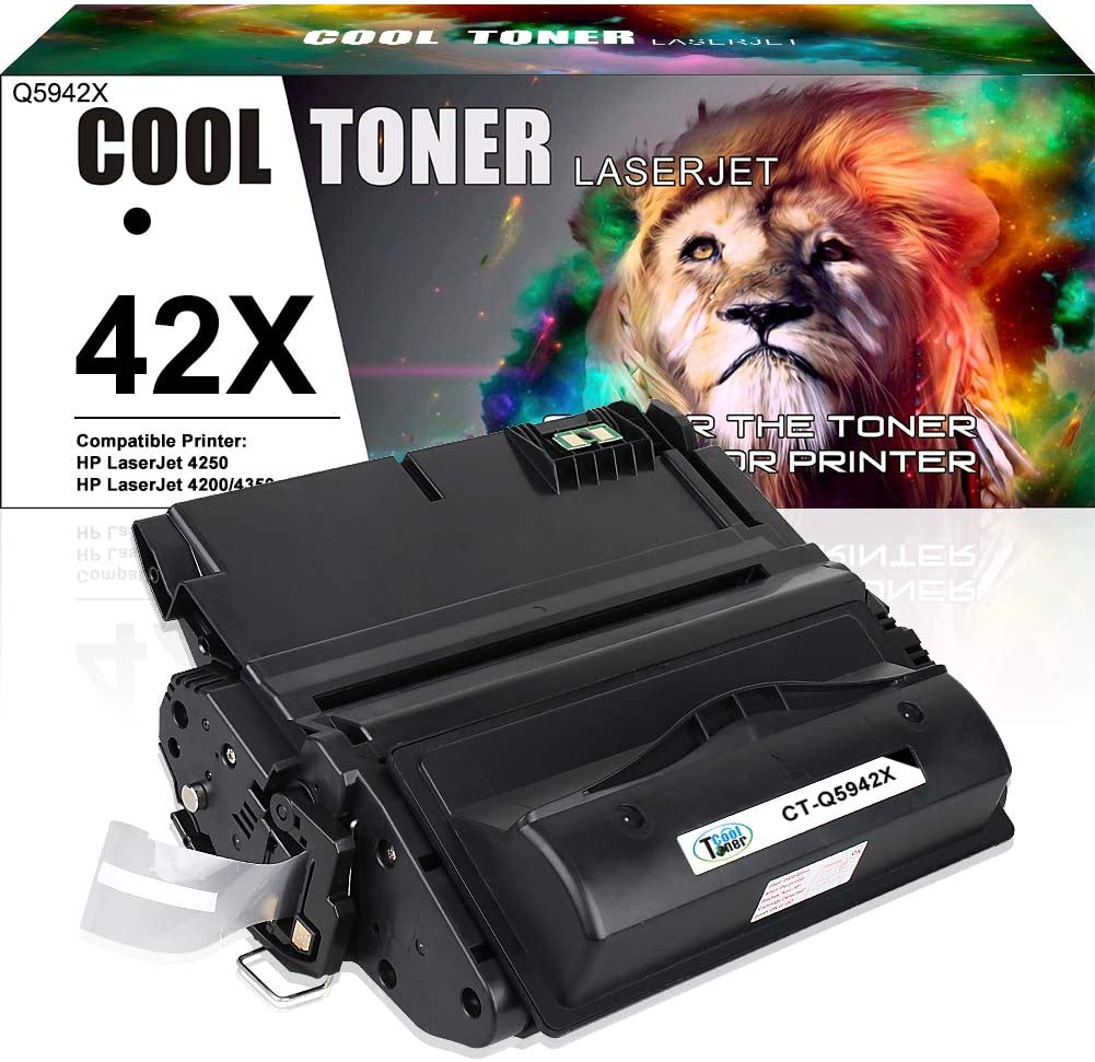 Cool Toner Compatible Toner Cartridge Replacement for HP 42X Q5942X Q1338A Q5942 for HP LaserJet 4250TN 4250N 4250DTN 4350N 4350TN 4350DTN Printer-1PK