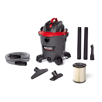 RIDGID 62703 12 Gallon RT1200 NXT WET/DRY VAC, RT1200, 5.0 HP, Casters, Locking Hose, Dark Gray and Red: Home Improvement