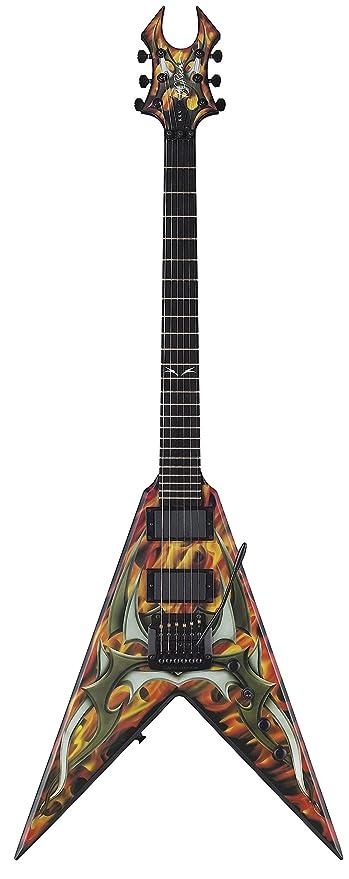 B.C. Rico Kerry King V Generación 2 Guitarra, dos tonos Tribal Diseño más de Fire: Amazon.es: Instrumentos musicales