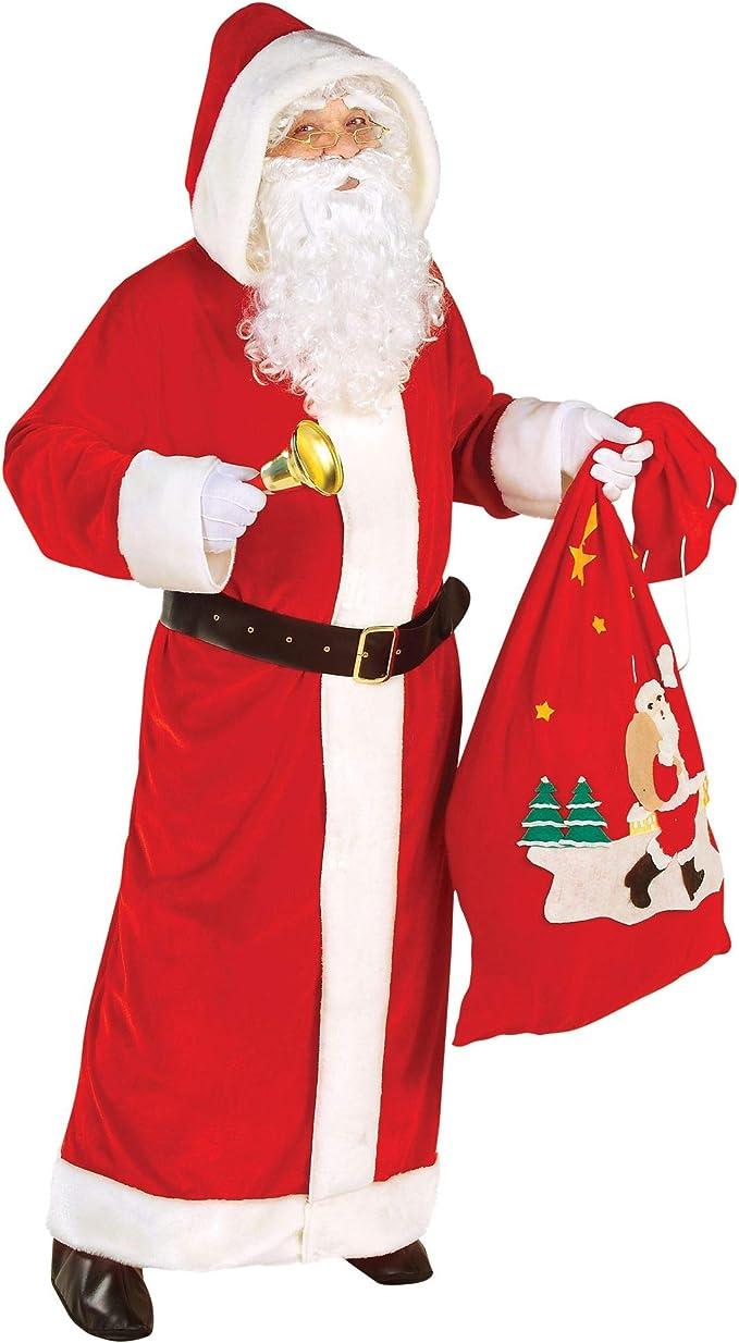 Giacca Di Babbo Natale.Net Toys Widmann 15565 Costume Di Babbo Natale Set Di Cappotto Con Cappuccio E Cintura Colore Bianco Rosso Amazon It Giochi E Giocattoli