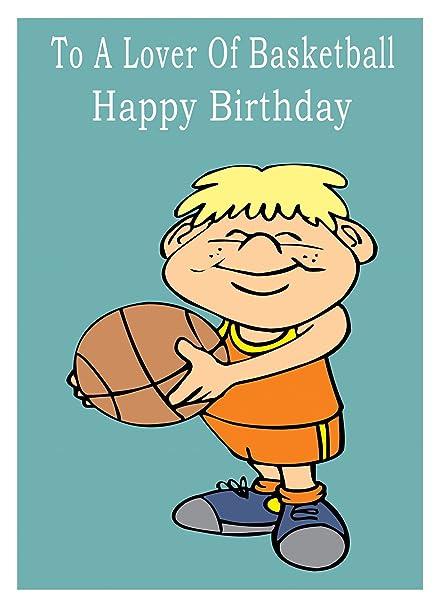 Baloncesto Tarjeta de felicitación de cumpleaños: Amazon.es ...