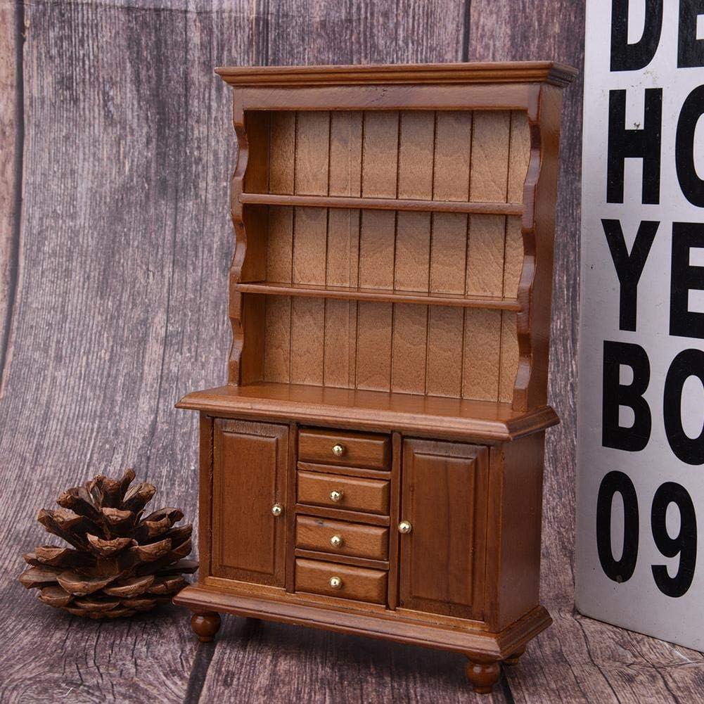 Armadio da Cucina in Legno Mini Accessori per mobili per Bambini HEEPDD 1:12 Mobili in Miniatura per casa delle Bambole