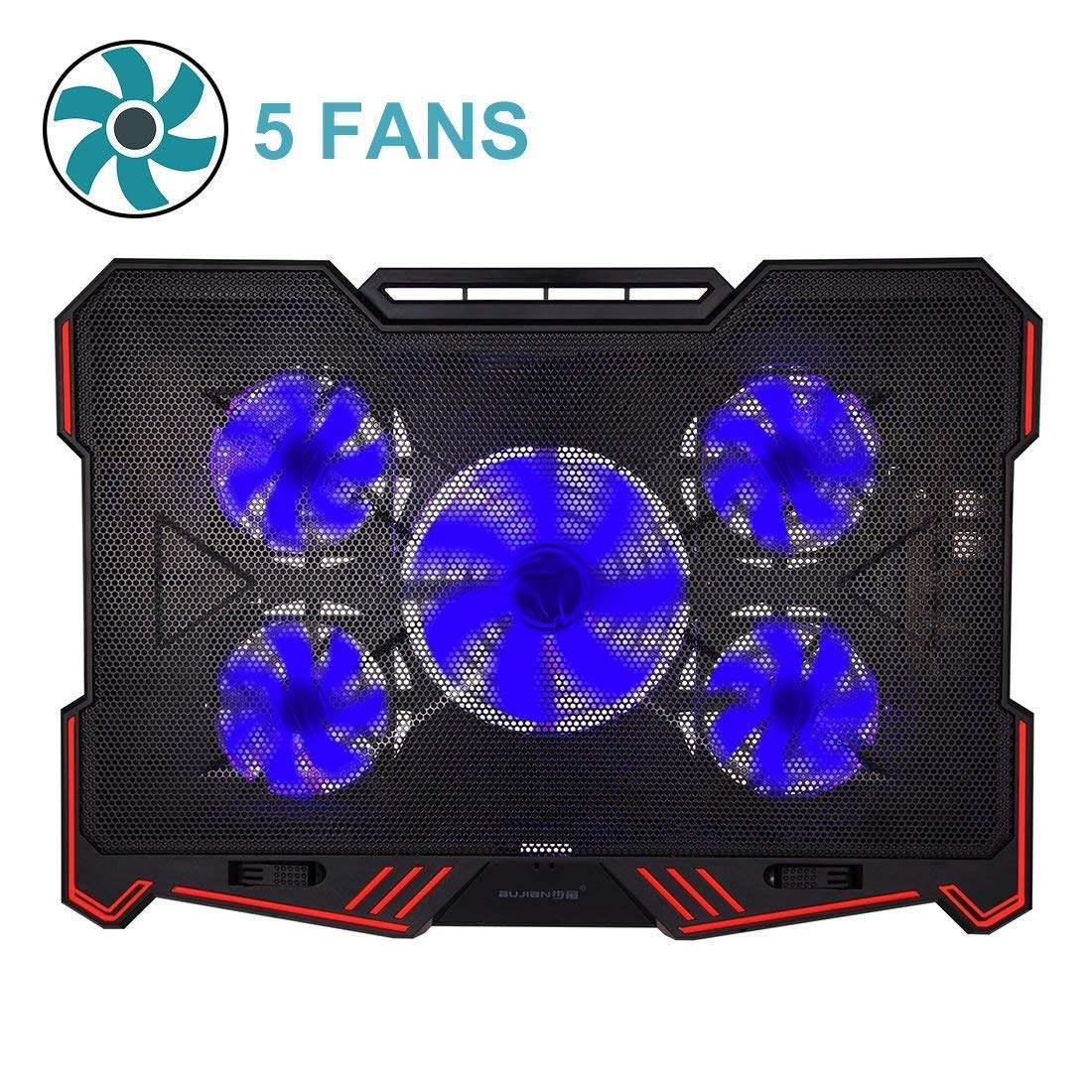 Amazon.com: [emailprotected] 10-16inch Laptop Cooling Pad (5Fans Location  Coverage and Whisper Quiet, Power/LED Switch and 5Levels Feet Stand):  Computers & ...