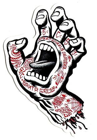 Santa Cruz Gritando Mano Tatuaje Pegatina para monopatín - Aprox. 15 cm High. Skate Nieve Surf BMX Guitarra: Amazon.es: Deportes y aire libre