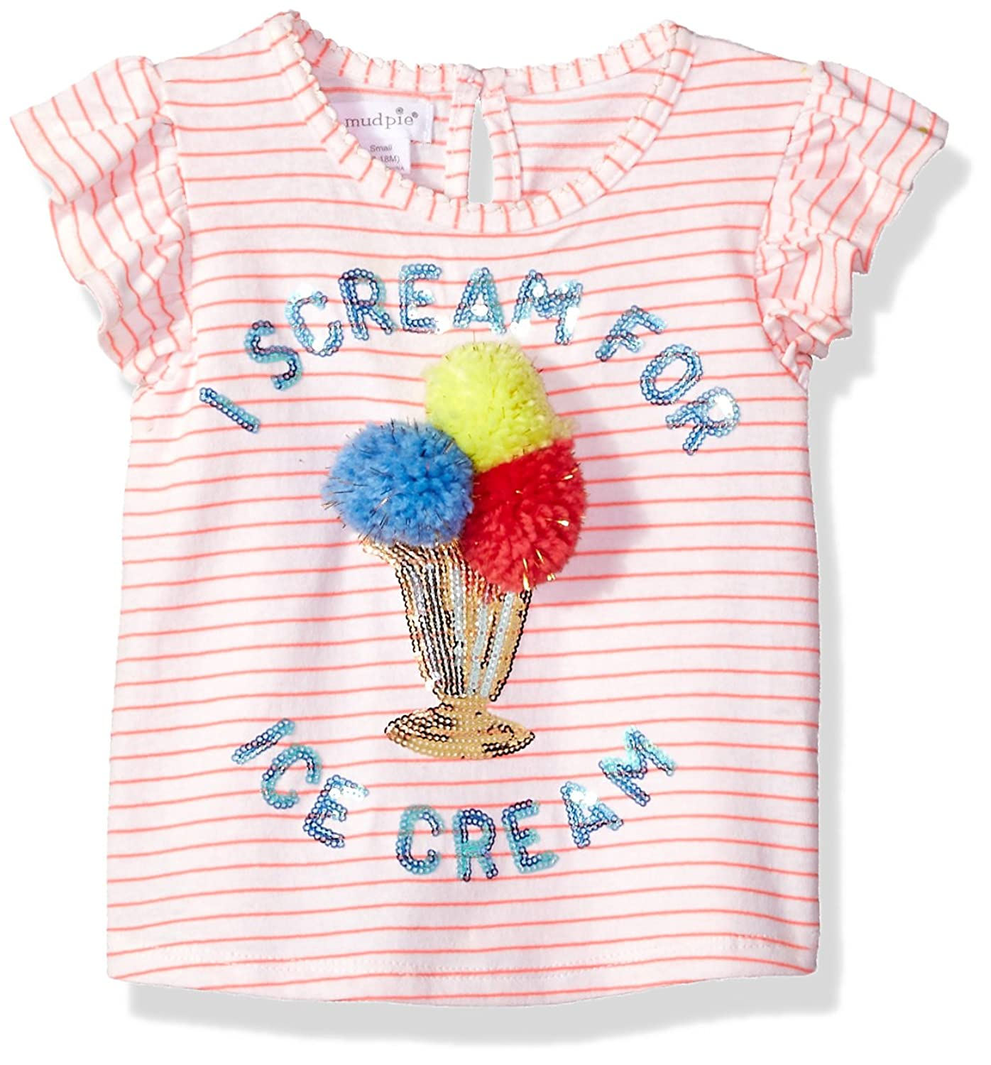 dcb7d62a5 Online Cheap wholesale Mud Pie Baby Girls Ice Cream Stripe Flutter Sleeve  T-Shirt T-Shirts Suppliers