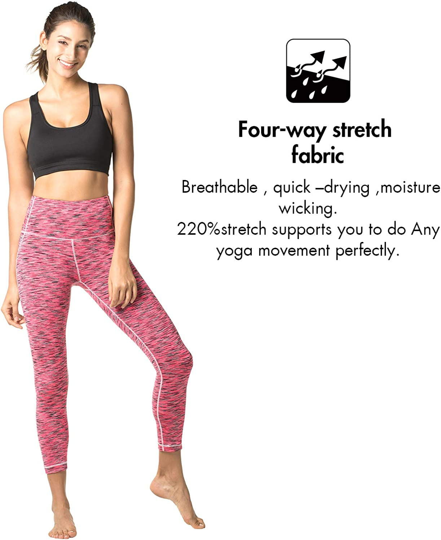 LAPASA Yoga Pants for Women Sports Leggings High Waist Tummy Control Workout Running Tights L01