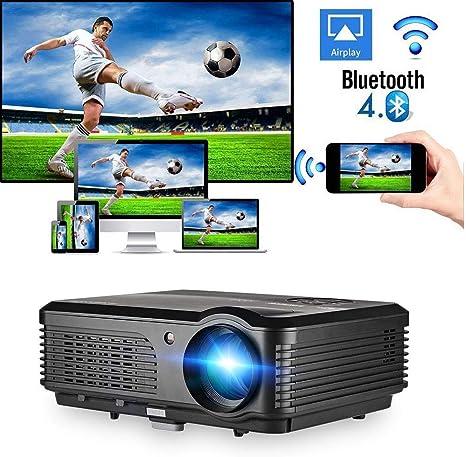 CAIWEI 4200 Lumen Proyector inalámbrico para con Bluetooth 1080P ...