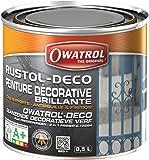 Owatrol Rustol-Deco Peinture décorative brillante 0,5 L Noir