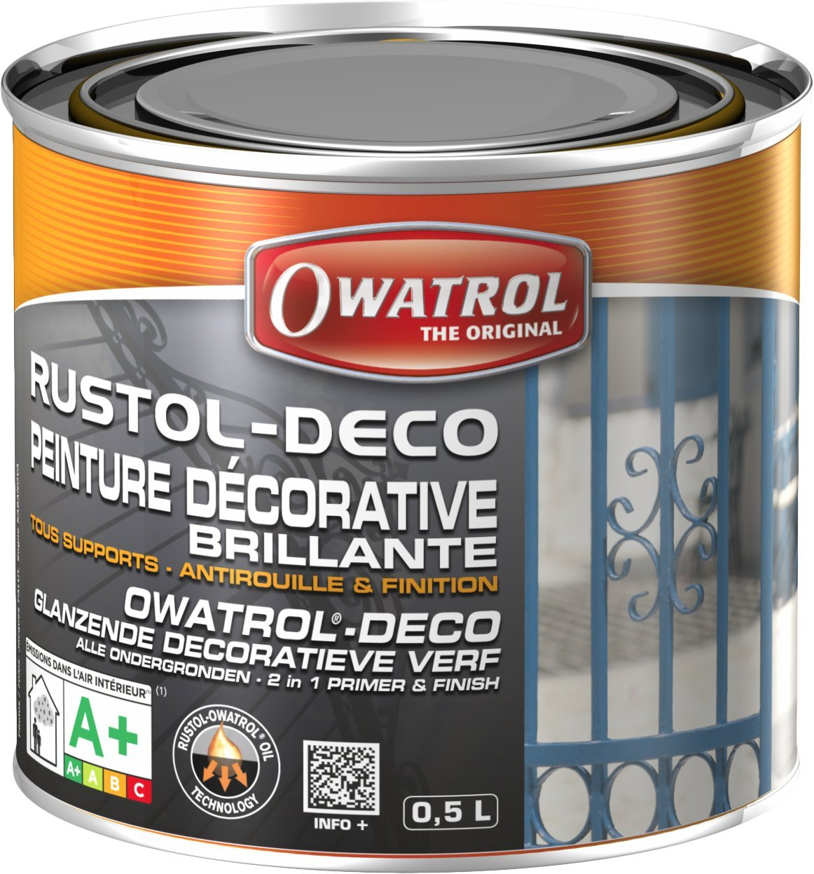 Owatrol Rustol-Deco Peinture dé corative brillante 0, 5 L Vert 930