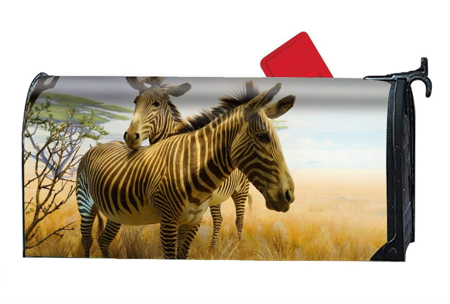 b9c755d56afc Amazon.com  Verna Christopher Mailbox Cover-Animal Zebra Magnetic Mail Box  Cover-Cylinder Packaged  Garden   Outdoor