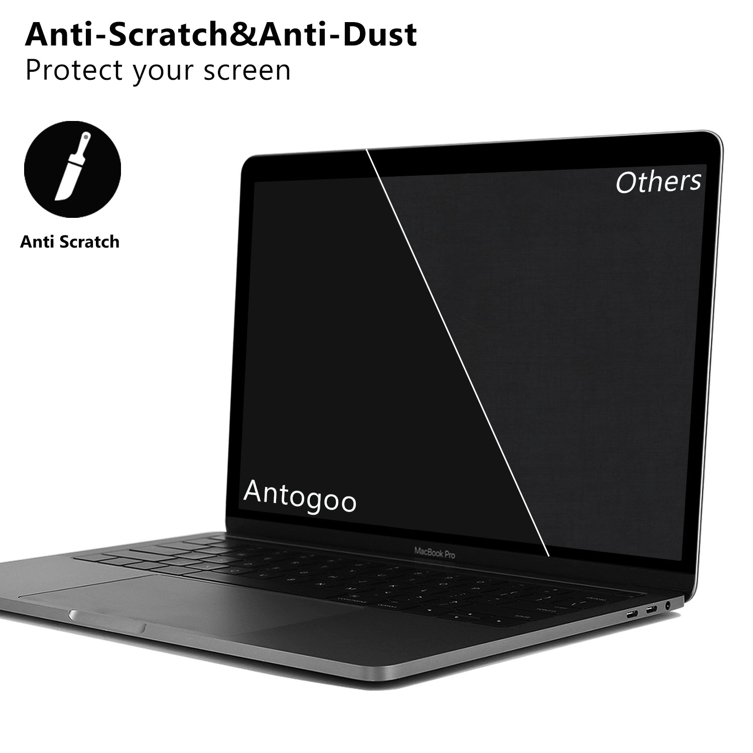17.3 Inch Anti Glare Screen Protector for 17.3 Inch with 16:9 Aspect Ratio Dell//Asus HP Laptop 2 PACK Samsung//Aoc Acer//ViewSonic