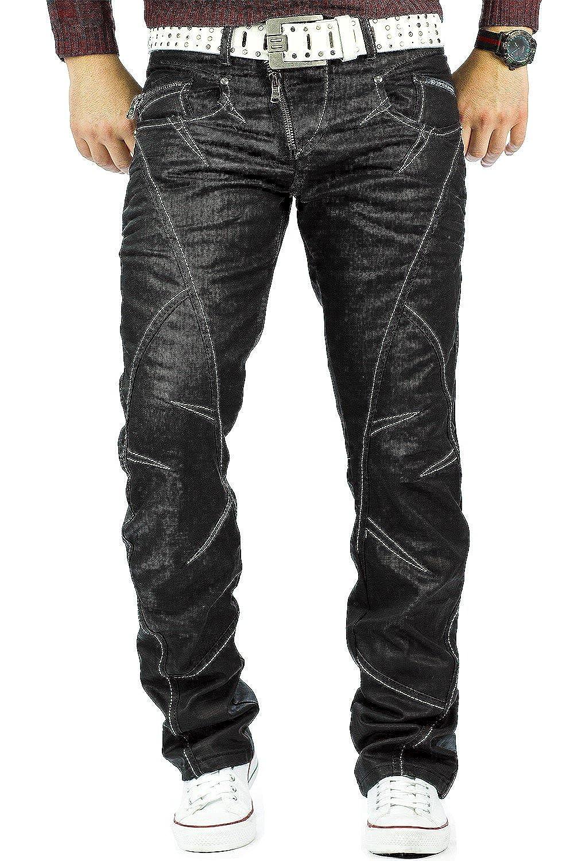 TALLA 34W / 32L. Cipo & Baxx Hombre Jeans Denim Biker streatwear Tiempo Libre de Pantalones Club Wear Superventas Streetwear Dope Swag