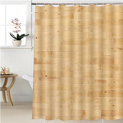 Gzhihine Shower Curtain Hardwood Maple Basketball Court Floor Viewed From  Above Bathroom Accessories 48 X 72