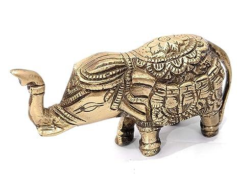 Amazon Athizay Elephant Showpiece Brass Decorative Items 5 Cm