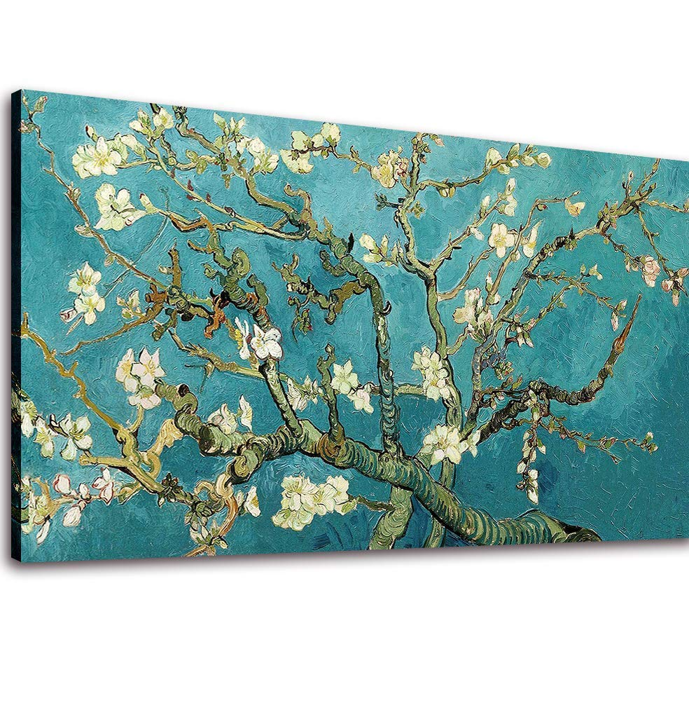 Canvas Wall Art Almond Blossom Tree by Van Gogh Painting Prints Long Flower Canvas Artwork Reproductions Famous Painting for Living Room Home Decor