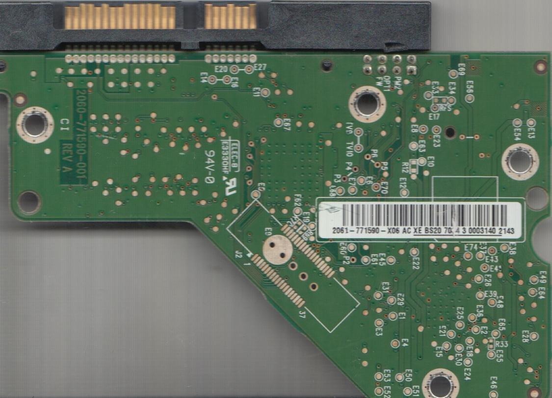 WD3200AAJS-00M0A0, 2061-771590-X06 AC, WD SATA 3 5 PCB