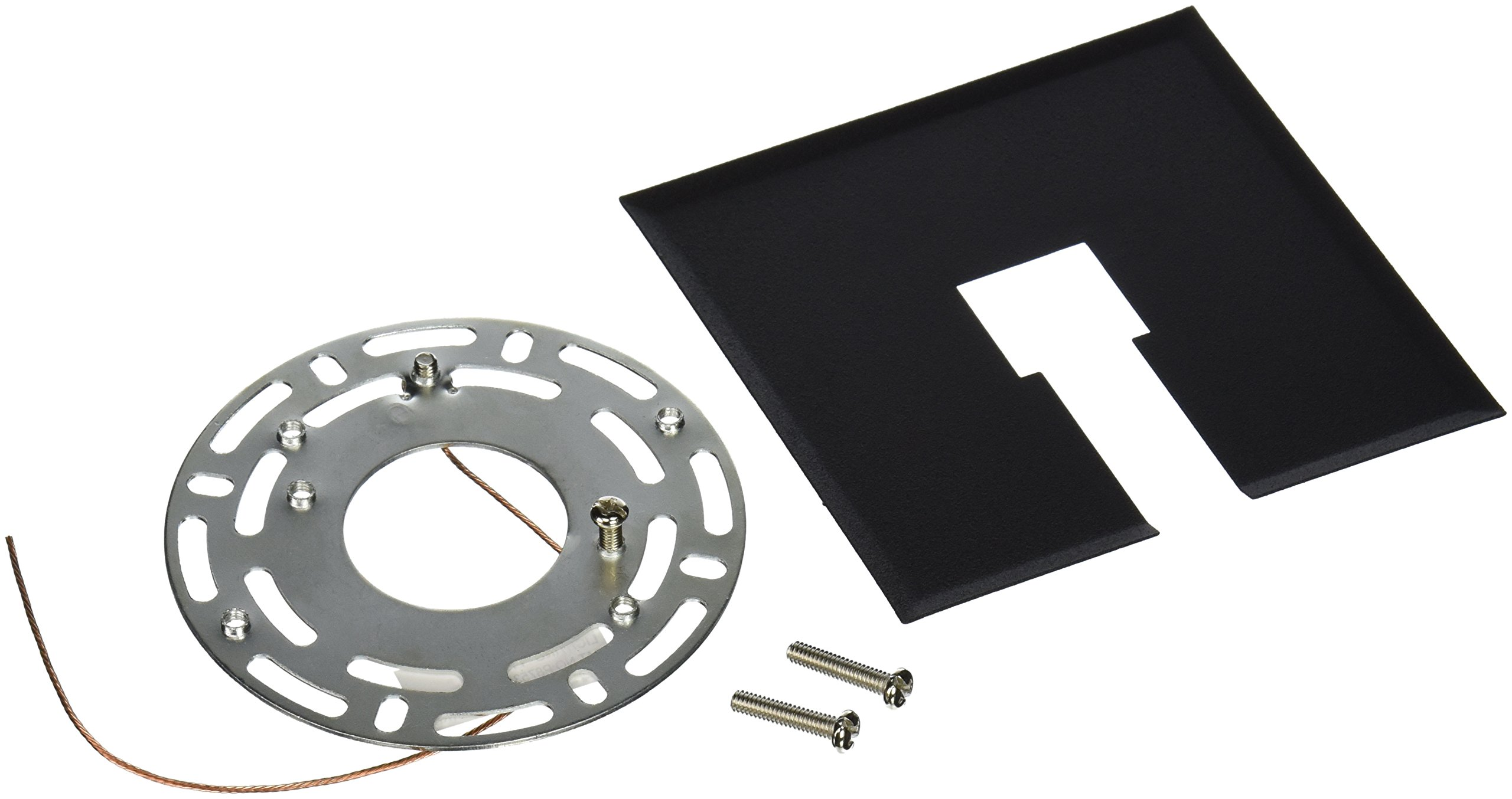 Progress Lighting P8753-31 Canopy Kit Flush Mount Mounting Plate Can Be Used Anywhere Along Track Slips Between Ceiling and Track, Black