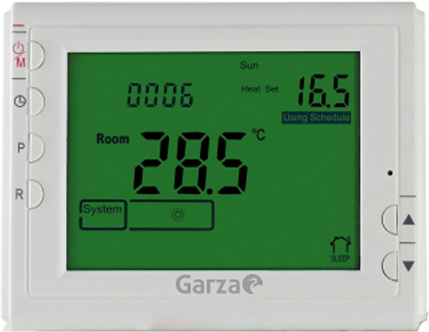 Garza 400606 Crono termostato Digital programable, Blanco