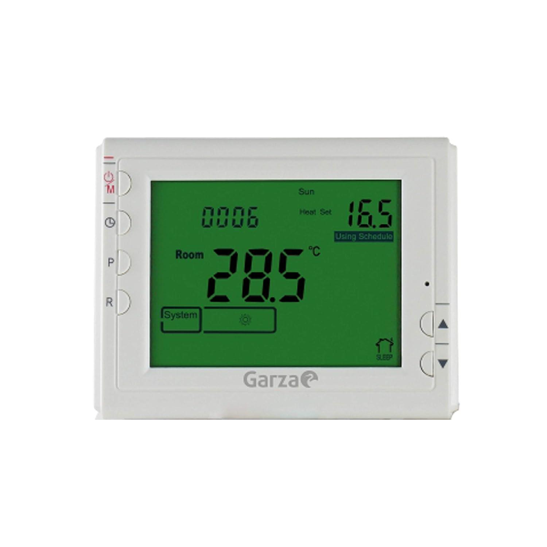 Garza 400606 Crono termostato Digital programable, Blanco: Amazon.es: Bricolaje y herramientas