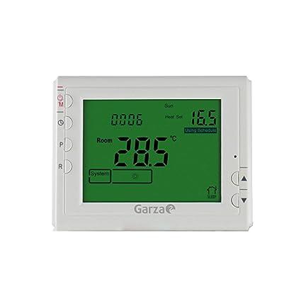 Garza Power - Termostato Digital programable para Caldera y calefacción. Cronotermostato Digital Controlador de Temperatura