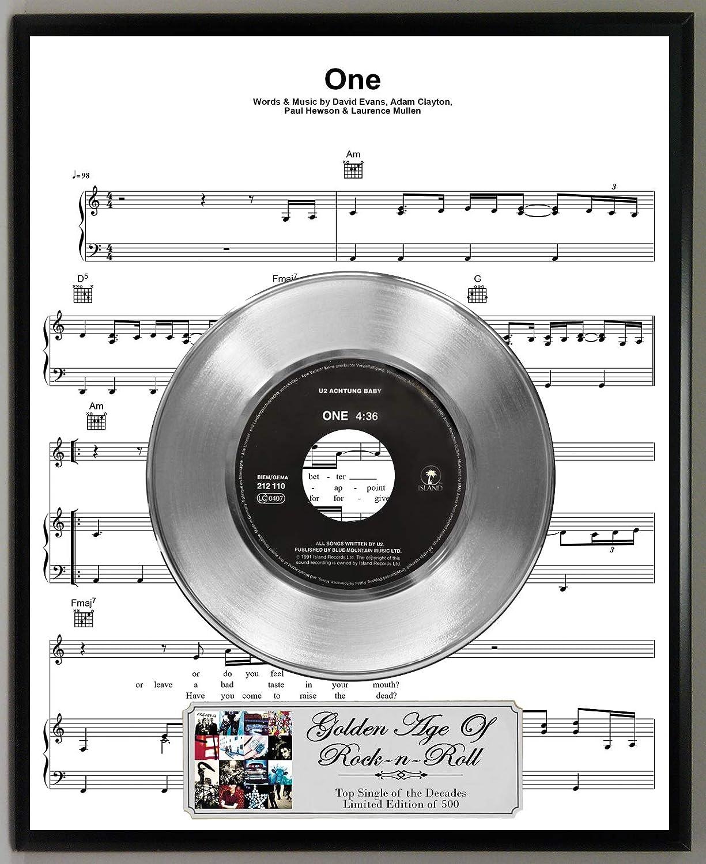 Amazon com: G A R R  U2 One Limited Edition 45 RPM Platinum