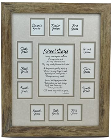 Amazon.com - School Days Years Photo Picture Mat and Frame 11x14 K ...