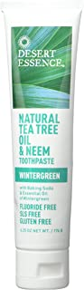 product image for Desert Essence Natural Tea Tree Oil Wintergreen Toothpaste, 6.25 Ounce - 2 per case.
