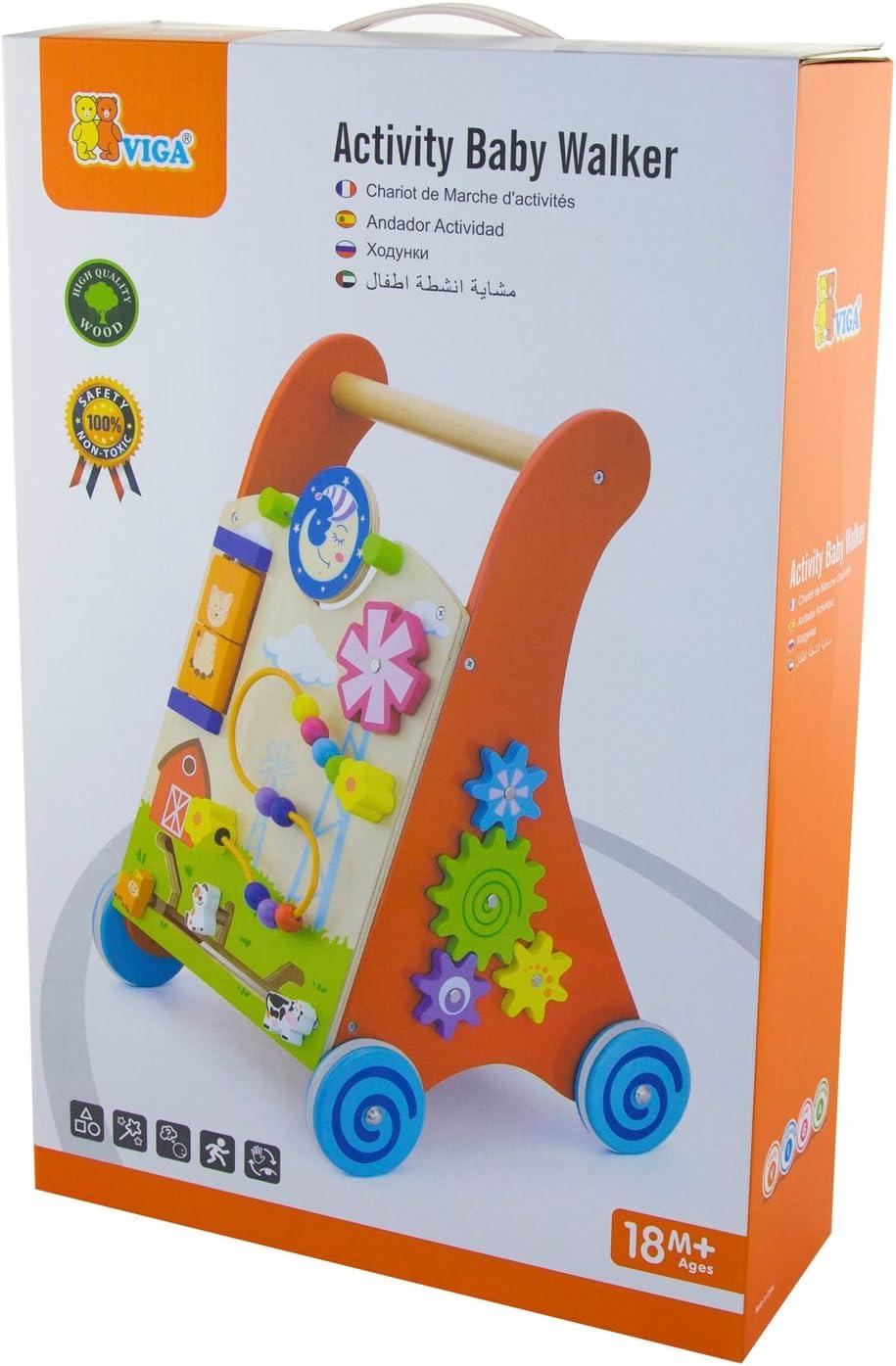 Amazon.com: VIGA Toys - 50950 - Activity Baby Walker - Red ...